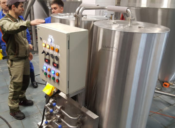 Industrial brewery (4000 liters per day)